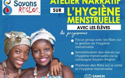 17 avril : atelier narratif avec les élèves sur l'hygiène menstruelle